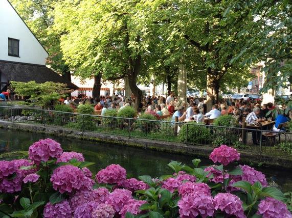 Biergarten Mühle Ismaning, Ausflugsbiergarten in Ismaning